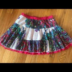 Desigual girl flare / floral design skirt.